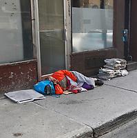 Sans-abris au centre ville, 2015<br /> <br /> PHOTO :  Agence Quebec Presse