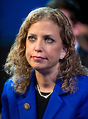 United States Representative Debbie Wasserman Schultz (Democrat of Florida), who also serves as Chairman of the Democratic National Committee, listens as  President Barack Obama delivers remarks at the American Israel Public Affairs Committee (AIPAC) Policy Conference in Washington, D.C. on Sunday, March 4, 2012..Credit: Ron Sachs / Pool via CNP
