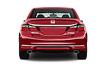Straight rear view of 2017 Honda Accord Sport 4 Door Sedan Rear View  stock images