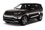 2021 Land Rover Discovery R-Dynamic-HSE 5 Door SUV Angular Front automotive stock photos of front three quarter view