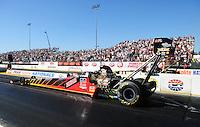 Jul. 29, 2011; Sonoma, CA, USA; NHRA top fuel dragster driver Doug Kalitta during qualifying for the Fram Autolite Nationals at Infineon Raceway. Mandatory Credit: Mark J. Rebilas-