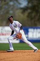 New York Yankees shortstop Jorge Mateo (93) during a Spring Training game against the Detroit Tigers on March 2, 2016 at George M. Steinbrenner Field in Tampa, Florida.  New York defeated Detroit 10-9.  (Mike Janes/Four Seam Images)