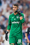 Goalkeeper Ivan Cuellar Sacristan of CD Leganes reacts during the La Liga 2018-19 match between Real Madrid and CD Leganes at Estadio Santiago Bernabeu on September 01 2018 in Madrid, Spain. Photo by Diego Souto / Power Sport Images