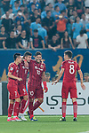 Shanghai FC Forward Elkeson De Oliveira Cardoso (C) celebrating his goal with his teammates Hulk (R) and Wu Lei (L) during the AFC Champions League 2017 Round of 16 match between Jiangsu FC (CHN) vs Shanghai SIPG FC (CHN) at the Nanjing Olympic Stadium on 31 May 2017 in Nanjing, China. Photo by Marcio Rodrigo Machado / Power Sport Images