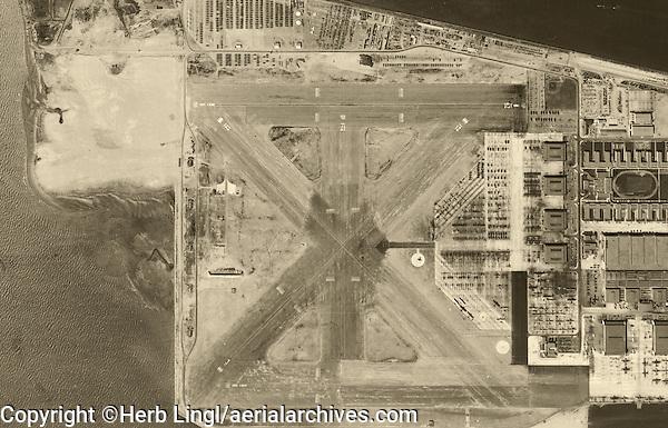 aerial photograph Naval Air Station Alameda, California, 1946