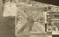 aerial photograph Naval Air Station Alameda, California, 1946