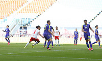 16th May 2020, Red Bull Arena, Leipzig, Germany; Bundesliga football, Leipzig versus FC Freiburg;  Goal scorer Yussuf Poulsen RBL after his goal for 1-1 equaliser In the penalty area with Dominique Heintz SCF and Christian Guenter