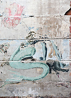 ©Si Barber 07739 472 922.  <br /> A mermaid mural painted by USAAF servicemen at the Norfolk and Suffolk Air Museum, Bungay,UK.<br />  <br /> USAGE TERMS: ONE USE IN PRINT AND ONLINE. NO SYNDICATION, RETENTION, OR THIRD PARTY SALES. MINIMUM FEES APPLY