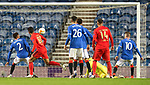 26.11 2020 Rangers v Benfica: James Tavernier deflects the ball into his net