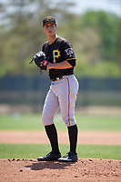 Pittsburgh Pirates pitcher Max Kranick (39) gets ready to deliver a pitch during a minor league Spring Training game against the Philadelphia Phillies on March 24, 2017 at Carpenter Complex in Clearwater, Florida.  (Mike Janes/Four Seam Images)