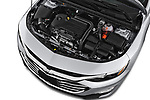 Car stock 2020 Chevrolet Malibu LT 4 Door Sedan engine high angle detail view