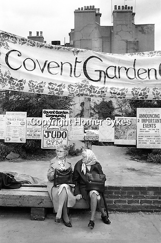 The Covent Garden Community Association fought against the commercialism of this central part of London. They were afraid that the commercialism would drive out small tradition shops and local residents. June 1980...