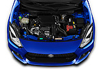 Car Stock 2020 Suzuki Swift-Sport Hybrid 5 Door Hatchback Engine  high angle detail view
