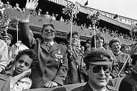 - Praga, Repubblica Ceca (allora Cecoslovacchia), parata per il 1° maggio 1988, festa dei lavoro<br /> <br /> - Prague, Czech Republic (then Czechoslovakia), parade on 1 May 1988, the labor feast