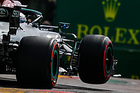 17th April 2021; Autodromo Enzo and Dino Ferrari, Imola, Italy; F1 Grand Prix of Emilia Romagna, Qualifying sessions;  BOTTAS Valtteri fin, Mercedes AMG F1 GP W12 E Performance gets tyres in the air during his runs