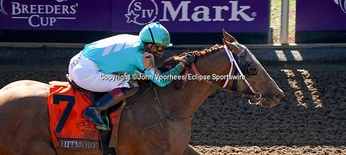 November 7, 2020 : Whitmore, ridden by Irad Ortiz, Jr., wins the Sprint on Breeders' Cup Championship Saturday at Keeneland Race Course in Lexington, Kentucky on November 7, 2020. John Voorhees/Breeders' Cup/Eclipse Sportswire/CSM