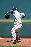 St. Lucie Mets pitcher Ricky Knapp (32) delivers a pitch during a game against the Bradenton Marauders on April 12, 2015 at McKechnie Field in Bradenton, Florida.  Bradenton defeated St. Lucie 7-5.  (Mike Janes/Four Seam Images)