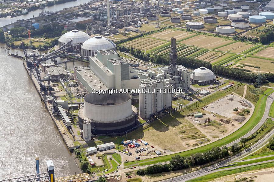 Kraftwerk Moorburg : EUROPA, DEUTSCHLAND, HAMBURG, (EUROPE, GERMANY), 27.08.2021: Kraftwerk Moorburg an der Süderelbe