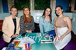 Enjoying the evening in Molly J's on Thursday, l to r: Krenare Jashari, Sarah McAuliffe, Arlinda Jeshari and Lira Hoxha.