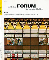 Architectural Forum magazine cover, July 1955, Photo by John G. Zimmerman.