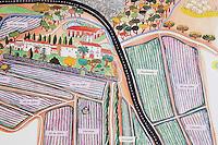 Map over the vineyards. Albet i Noya. Penedes Catalonia Spain
