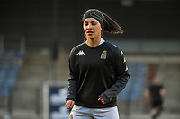Yasaman Farmani (6) of Charleroi pictured before a female soccer game between FC Femina White Star Woluwe and Sporting Charleroi on the 2nd matchday of Play off 2 in  the 2020 - 2021 season of Belgian Scooore Womens Super League , friday 16 th of April 2021  in Woluwe , Belgium . PHOTO SPORTPIX.BE   SPP   STIJN AUDOOREN