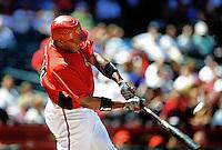 Apr. 3, 2010; Phoenix, AZ, USA; Arizona Diamondbacks outfielder Justin Upton bats against the Chicago Cubs at Chase Field. Mandatory Credit: Mark J. Rebilas-