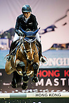 Jane Richard Philips of Switzerland rides Pablo de Virton in action during the Hong Kong Jockey Club Trophy competition as part of the Longines Hong Kong Masters on 13 February 2015, at the Asia World Expo, outskirts Hong Kong, China. Photo by Li Man Yuen / Power Sport Images