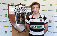 SCHOOLS CUP DRAW 2016 | Monday 16th November 2015<br /> <br /> Wallace HS captain Jonny Stewart - Ulster Schools Cup draw at Kingspan Stadium, Ravenhill Park, Belfast, Northern Ireland.<br /> <br /> Photo credit: John Dickson / DICKSONDIGITAL