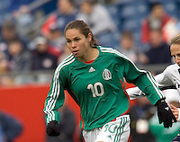 Guadalupe Worbis runs upfield. USA women's national team defeated Mexico 5-0 at Gillette Stadium in Foxborough MA on April 14, 2007