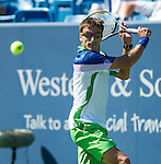 Tommy Robredo (ESP) during his match against fellow countryman David Ferrer (ESP). Robredo fell to Ferrer by 64 36 63 at the Western & Southern Open in Mason, OH on August 15, 2014.