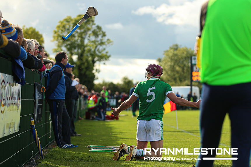 EVENT:<br /> Mid Tipperary Senior Hurling Final<br /> Upperchurch-Drombane vs Drom-Inch<br /> Sunday 29th September 2019,<br /> Littleton, Tipperary<br /> <br /> CAPTION:<br /> Liam Ryan of Drom-Inch loses his hurley. <br /> <br /> Photo By: Michael P Ryan