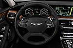 Car pictures of steering wheel view of a 2019 Genesis G90 Ultimate 4 Door Sedan