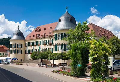 Deutschland, Rheinland-Pfalz, Suedliche Weinstrasse, Bad Bergzabern: Das Schloss Bergzabern   Germany, Rhineland-Palatinate, Southern Wine Route, Bad Bergzabern: Castle Bergzabern
