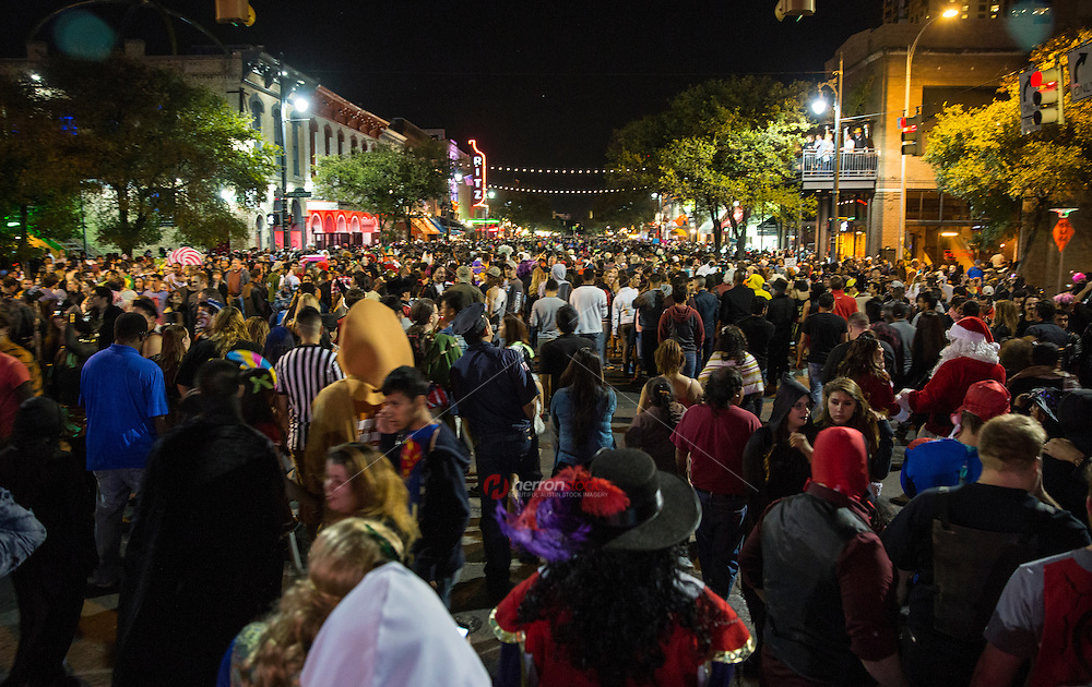On Halloween anything goes on 6th Street Entertainment District in Austin, Texas.