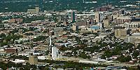 aerial photograph Louisville, Kentucky skyline