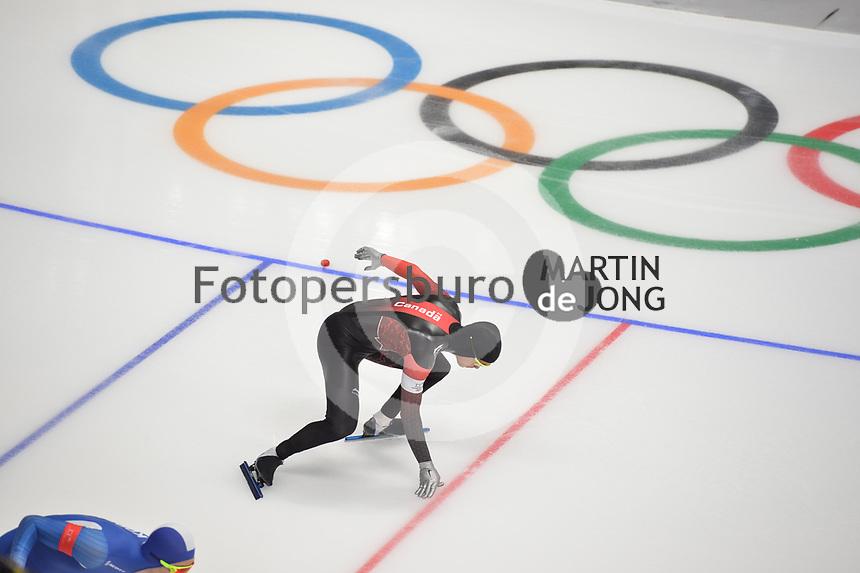 OLYMPIC GAMES: PYEONGCHANG: 19-02-2018, Gangneung Oval, Long Track, 500m Men, Gilmore Junio (CAN), ©photo Martin de Jong