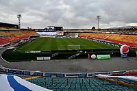 BOGOTA - COLOMBIA, 03-04-2021: Panoramica del estadio El Campin previo al partido entre Millonarios F. C. y Deportes Tolima de la fecha 17 por la Liga BetPlay DIMAYOR I 2021 jugado en el estadio Nemesio Camacho El Campin de la ciudad de Bogota. / Panoramic view of the El Campin stadium prior a match between Millonarios F. C. and Deportes Tolima of the 17th date for the BetPlay DIMAYOR I 2021 League played at the Nemesio Camacho El Campin Stadium in Bogota city. / Photo: VizzorImage / Luis Ramirez / Staff.