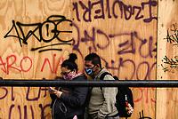 BOGOTA - COLOMBIA, 12-05-2020: Aapectos del centro de la ciudad de Bogotá durante el día 48 de la cuarentena total en el territorio colombiano causada por la pandemia  del Coronavirus, COVID-19. / Aspects of the down town in Bogota city. Today is the day 48 of total quarantine in Colombian territory caused by the Coronavirus pandemic, COVID-19. Photo: VizzorImage / Mariano Vimos / Cont