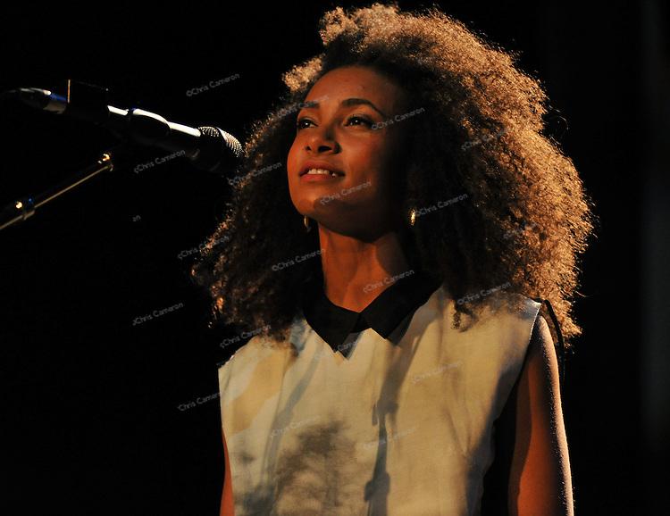 Esperanza Spalding plays the Vogue Theatre, June 23, 2013 in the TD Vancouver International Jazz Festival