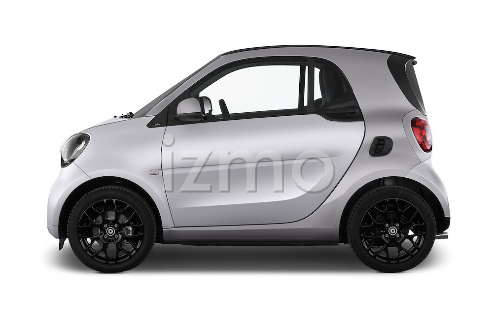 Car Driver side profile view of a 2016 Smart fortwo prime 3 Door Micro Car Side View