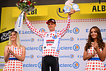 Tim Wellens (BEL) Lotto-Soudal retains the Yellow Jersey at the end of Stage 10 of the 2019 Tour de France running 217.5km from Saint-Flour to Albi, France. 15th July 2019.<br /> Picture: ASO/Pauline Ballet | Cyclefile<br /> All photos usage must carry mandatory copyright credit (© Cyclefile | ASO/Pauline Ballet)
