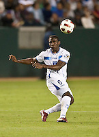 CARSON, CA – June 6, 2011: Honduran Henry Thomas (6) during the match between Guatemala and Honduras at the Home Depot Center in Carson, California. Final score Guatemala 0, Honduras 0.