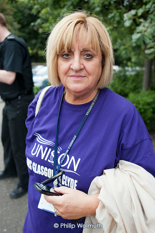 Cathy Miller, Branch Secretary of Unison NHS, Glasgow and Clyde.