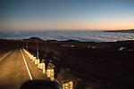 Driving Down From  Mauna Kea Summit At Dusk
