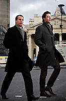 Sylvain Granojoux and Alexis Boyer work at Deutsche Bank in the City of London. The UK went into recession in the final quarter of 2008 as the City was hit hard by the global credit crunch.