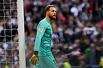 Jan Oblak of Atletico de Madrid during La Liga match between Real Madrid and Atletico de Madrid at Santiago Bernabeu Stadium in Madrid, Spain. February 01, 2020. (ALTERPHOTOS/A. Perez Meca)