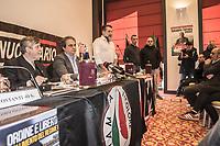 Forza Nuova il movimento politico di estrema destra a Como il 9 dicembre 2017 in un salone dell'hotel Palace