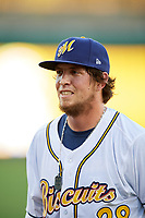 Montgomery Biscuits left fielder Colby Rasmus before a game against the Mississippi Braves on April 24, 2017 at Montgomery Riverwalk Stadium in Montgomery, Alabama.  Montgomery defeated Mississippi 3-2.  (Mike Janes/Four Seam Images)