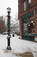 The winter view during the holidays in the charming village of Wickford, Rhode Island.